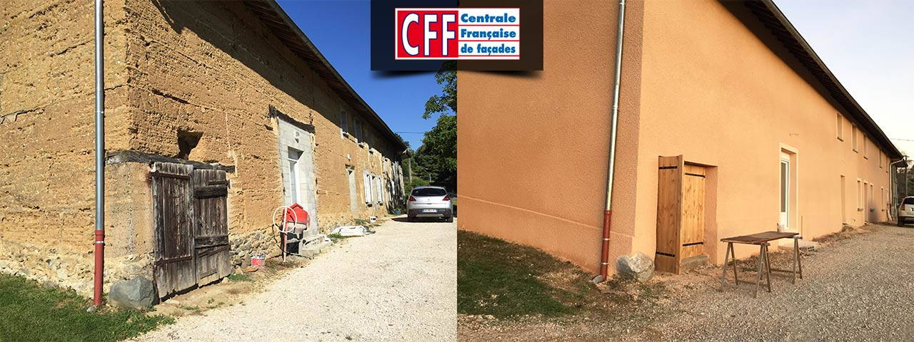 centrale française de façades - mur orange