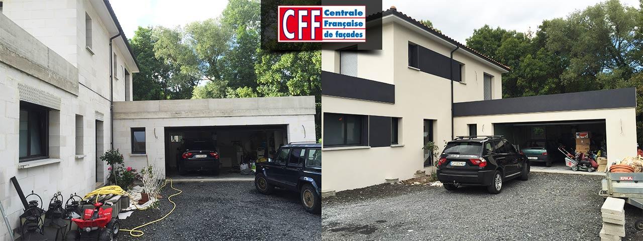 garage voiture noire - Centrale Française de Façades